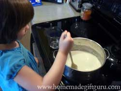 Add color now for single colored batch or knead color into individual clumps after play dough is prepared and still warm...