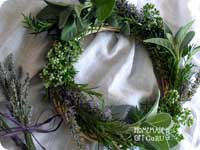 This herb wreath is a handy way to use extra garden bounties and make an adorable cheap homemade gift idea...