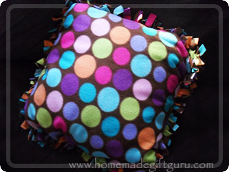 A no-sew fleece pillow cover makes for a super easy homemade gift project that makes a very pleasing homemade gift...