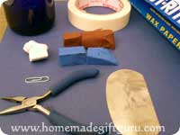 Supplies for making polymer clay Pisces symbol art charm...