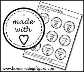 Click here to print these made with love printable gift tags...