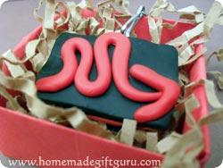 Scorpio symbol homemade key chain in a gift box...