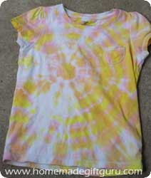 Tie dye shirt using a great circle technique...