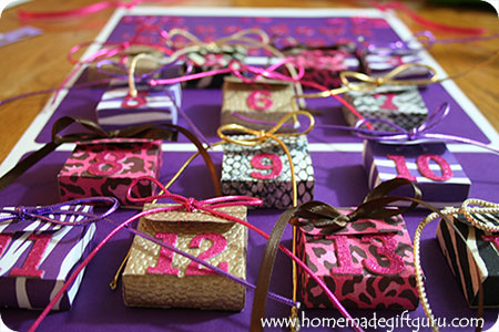 Learn how to make this fun Valentine countdown craft project for your favorite little Valentine! www.homemadegiftguru.com