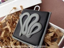 Virgo symbol homemade key chain in a gift box...