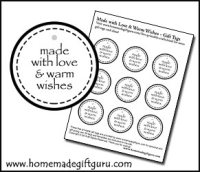 You may also like these free printable gift tags made JUST for homemade gifts.
