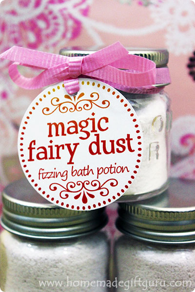 The fairies were kind enough to share their sweet smelling bath salt recipe with me, so now we can all take pink fairy dust baths. Fairy dust baths infuse our lives with happiness, joy and giggles.