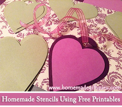 You can make your own stencils with these free printable gift tag templates!
