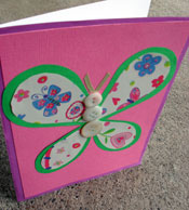 Easy homemade butterfly cards! Free card making template...
