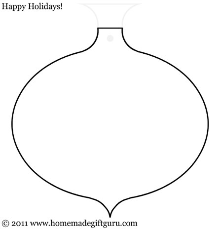 Free printable round Christmas ornament with point gift tag template.