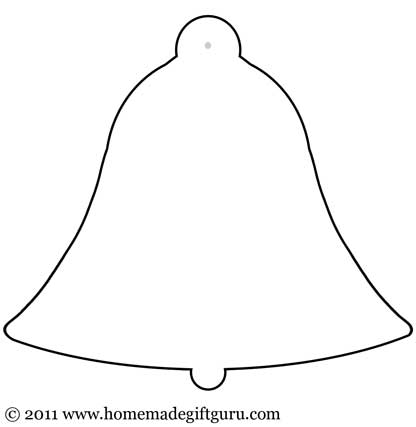 Bell shaped gift tag template.