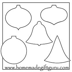 image about Printable Ornaments Template identify Cost-free Printable Xmas Reward Tags