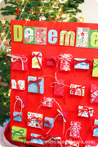 Whimsical Christmas countdown using free printable templates...