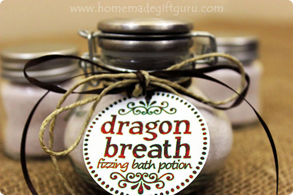 This fizzing bath salt recipe is infused with magical fiery dragon breath. As the magic activates, a burst of red fizzing dances upon your bathwater releasing dragon magic!