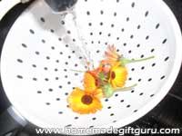 Wash flowers...
