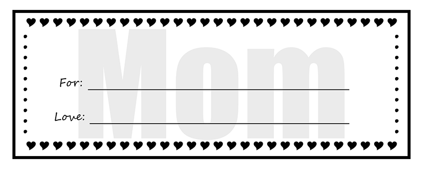Printable gift certificates for mom negle Choice Image