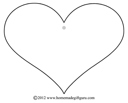 full page heart template - free gift tags heart templates
