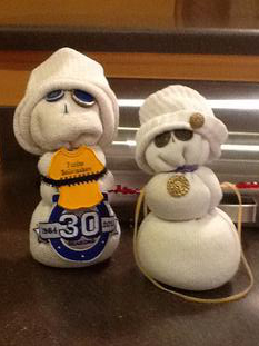 This is our sock snowmen together.