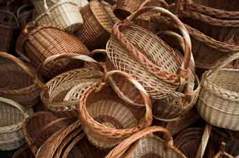 Start by picking out a sturdy basket with a flat bottom...