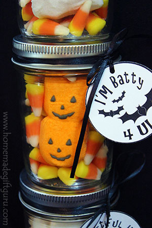 I'm Batty For You! These bat-themed Halloween printables make a great addition to Halloween candy ideas.