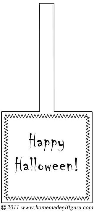 Happy Halloween! Get this free printable Halloween gift tag and decorate it however you choose.