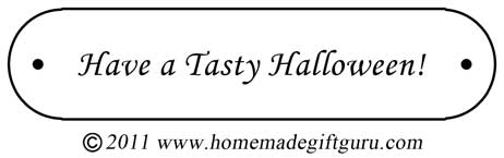 Free gift tag: Have a Tasty Halloween!