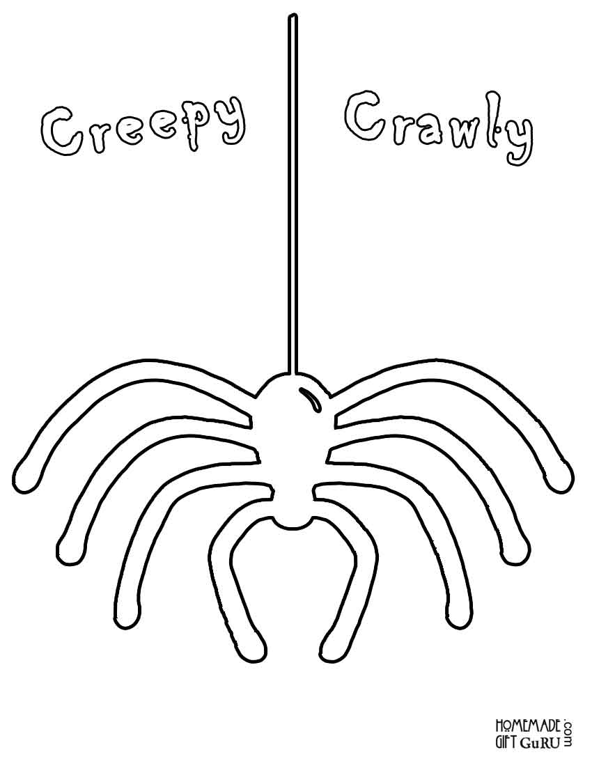 Free printable Halloween spider coloring page!