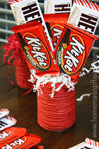 Small but sweet homemade candy bouquets