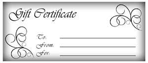 Make gift certificates!