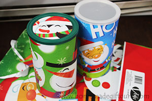 DIY up-cycled canisters make great homemade gifts!
