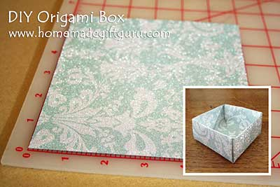 Start by making an origami box...
