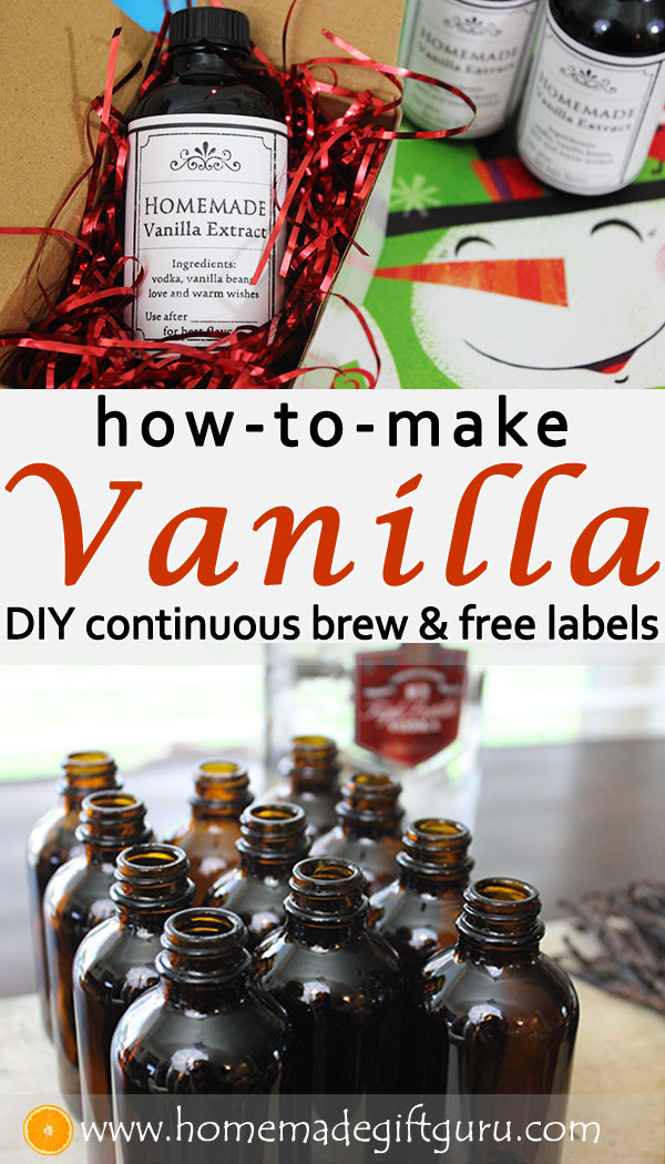 This continuous brew vanilla recipe makes the BEST homemade gifts!  #homemadegifts #hostessgifts #housewarminggifts #homemadegiftsforchristmas #easyhomemadegifts #vanillalabels