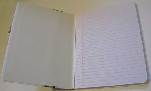 Inside view of easy homemade journal...
