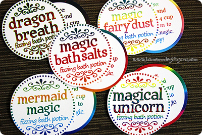 Free fantasy magic printables! If you know someone big or small who loves mythical creatures this may just be the next little unique homemade gift idea to add to your plans.