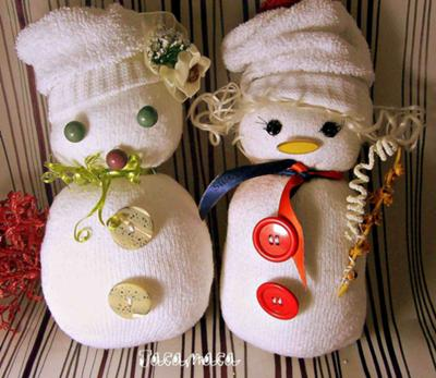 My Sock Snowmen For Granddaughter