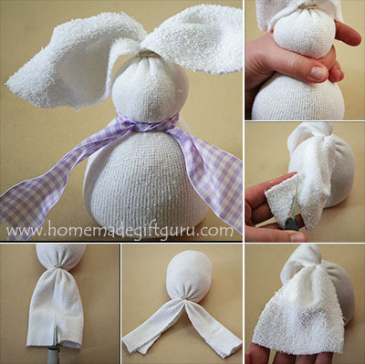 Creating a no-sew sock bunny couldn't be easier with these simple steps... and now for my favorite part, the face! #nosewsockbunny #sockanimals #sockcrafts #Eastercrafts #sockbunnytutorial