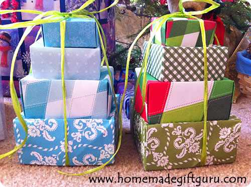 You can use origami to make adorable gift box towers for just about any holiday or occasion!