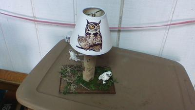 My Homemade Owl Themed Night Light Decoupage Project. Homemade Gift Idea Special for My Niece.