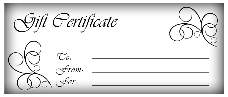 Make Gift Certificates with Printable Homemade Gift Certificates – Gift Coupon Template