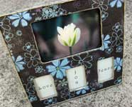Simple Decoupage Frame Gift