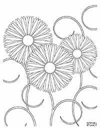 This free printable flower coloring page can also be used in craft projects! Learn more at www.homemadegiftguru.com