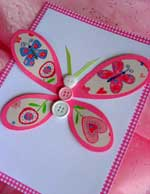 Homemade card using this free butterfly template!