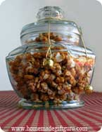 This caramel popcorn is so rich and buttery! It makes wonderful homemade gifts.
