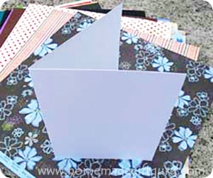 Easy Card Making with a Card Blank
