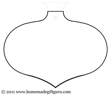 Free printable oval with point gift tag template. Enjoy!