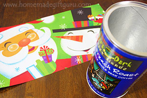 Cut the gift bag to the size of your canister.