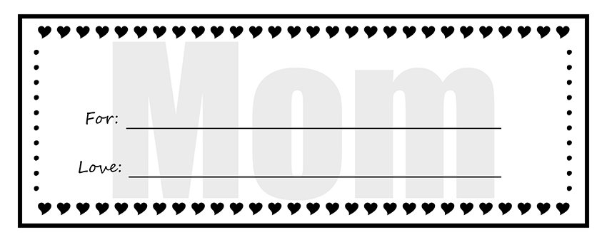 ... Printable Gift Certificates For Mom U2013 Homemade Gift Certificate  Templates ...