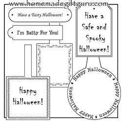 Be sure and print out a few of these free Halloween gift tags for giving your homemade Halloween gifts.