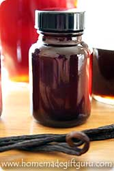Homemade vanilla extract is another amazing homemade gift to give.
