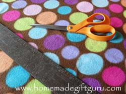 You don't need much to make your own fleece pillow... just fleece, scissors, ruler and filling. Learn more here.